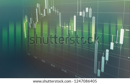 candlestick chart suitable for financial investment trading. Stock market or forex trading, Abstract finance background, Financial graph