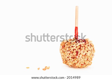 Candy Apple covered in nuts