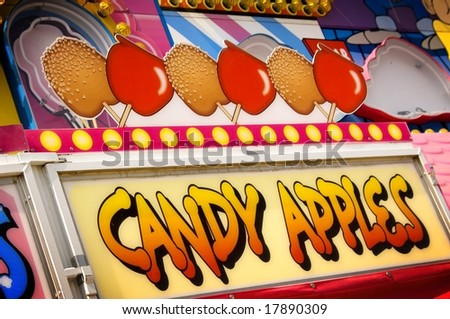 Candy Apple Sign