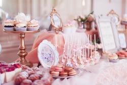 candy bar on wedding banquet