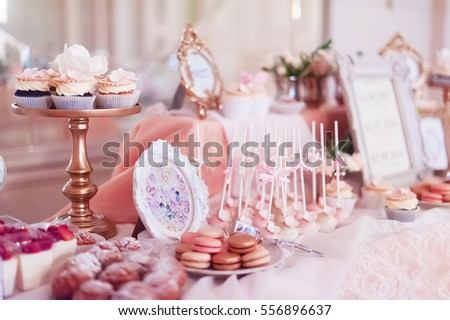candy bar on wedding banquet #556896637