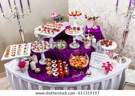 Free photos Candy bar. Wedding reception table with sweets, candies ...