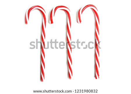 Candy Cane. Candy Cane for Christmas. Room for text.