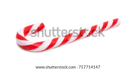 Candy cane isolated on white background #757714147