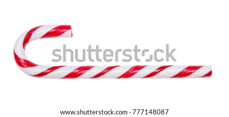 Candy cane isolated on white background