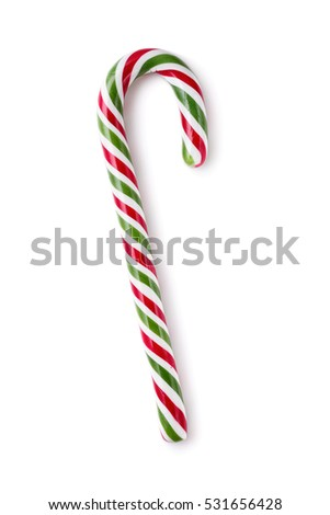Candy cane striped isolated on white background