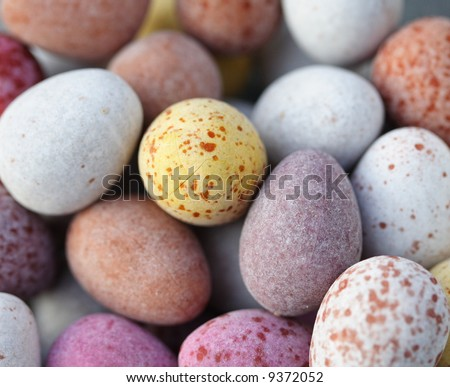 candy covered chocolate eggs