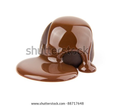 candy in a chocolate on a white background