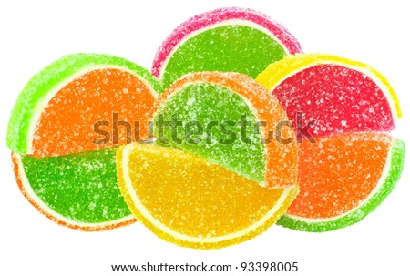 Candy isolated white background.