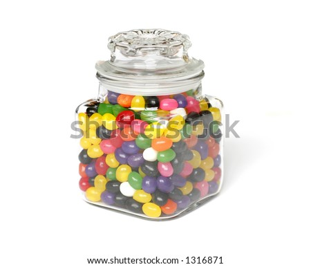 Candy Jar isolated on white
