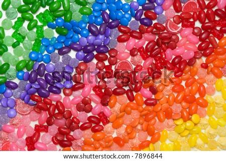 candy rainbow - stock photo