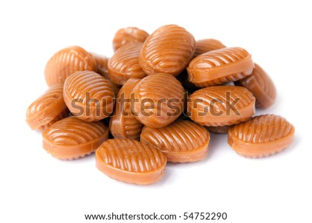 Candy stack isolated on a white background.