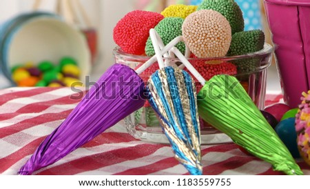 Candy Sweet Jelly Lolly and Delicious Sugar Dessert #1183559755