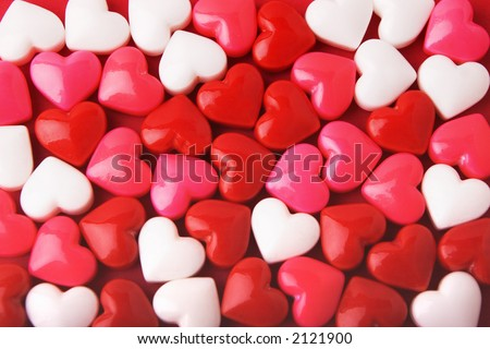 stock photo : Candy Valentine's Hearts