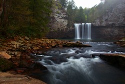 Cane creek falls at Fall creek falls state park Tennessee during early spring