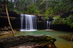 Caney Creek Falls is thought of as one of the best waterfalls in the Bankead National Forest.Considering it is one a 1.5 mile hike from the trailhead, it is also one of the more accesible waterfalls.