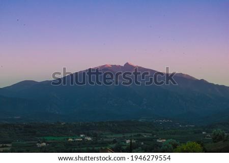 Canigou au coucher du soleil Foto stock ©