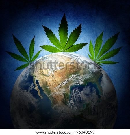 Cannabis has captured the world. (Earth image from www.nasa.gov)