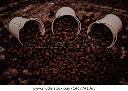 Canned coffee beans, coffee beans