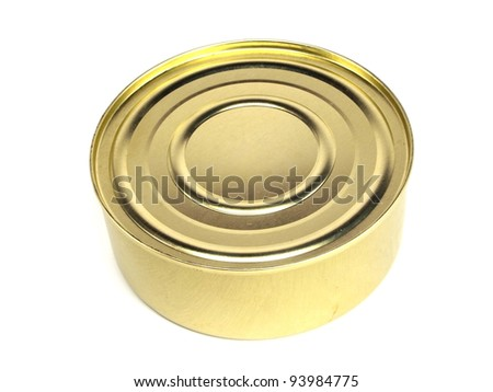 canned fish in tomato sauce on a white background