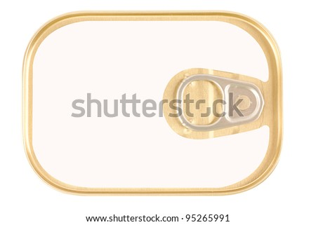 canned fish isolated on white background