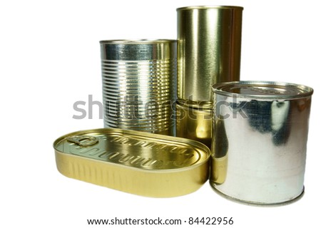 Canned food. - stock photo