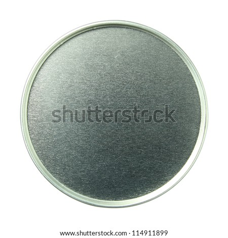canned food isolated on white background with clipping path