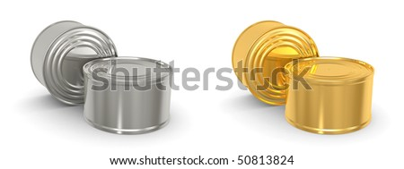 canned food isolated over a white background