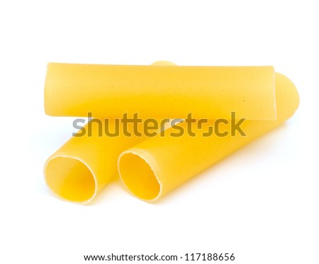 cannelloni pasta isolated on white background