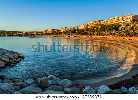 Cannes bay in alpes maritimes french riviera France