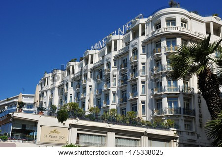 Cannes, France - april 15 2016 : a luxury hotel #475338025