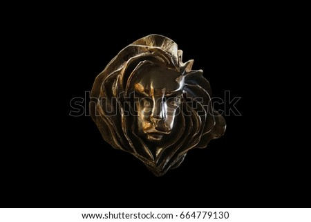 CANNES, FRANCE-June 26 : Gold cannes lion trophy, Shoot at Cannes lions festival 2016 use for editorial