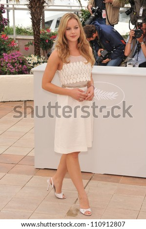"CANNES, FRANCE - MAY 15, 2009: Abbie Cornish at the photocall for her new movie ""Bright Star"""