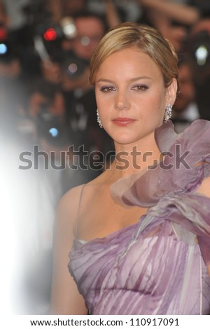 """CANNES, FRANCE - MAY 15, 2009: Abbie Cornish at the premiere for her movie """"Bright Star"""""""