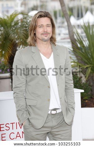 CANNES, FRANCE - MAY 22: Actor Brad Pitt is at the 65th Annual Cannes Film Festival to promote the movie 'Killing Them Softly' on May 22, 2012 in Cannes, France
