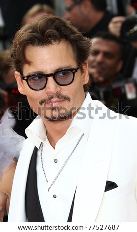 CANNES, FRANCE - MAY 14: Actor Johnny Depp attends the 'Pirates of the Caribbean: On Stranger Tides' premiere at the Palais during the 64th Cannes Film Festival on May 14, 2011 in Cannes, France.