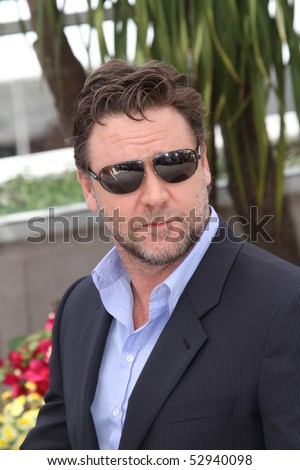 CANNES, FRANCE - MAY 12: Actor Russell Crowe attends the 'Robin Hood' Photocall held at the Palais Des Festivals during the 63rd Annual  Cannes Film Festival on May 12, 2010 in Cannes, France.