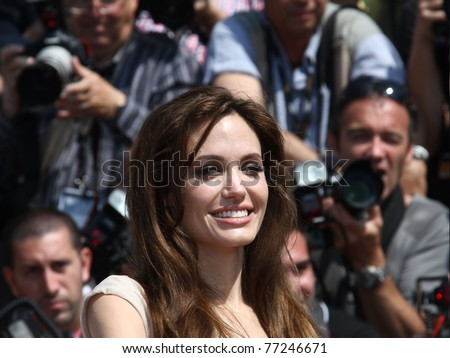 CANNES, FRANCE - MAY 12: Actress Angelina Jolie attends the 'Kung Fu Panda 2' photocall during the 64th Annual Cannes Film Festival at the Carlton Hotel on May 12, 2011 in Cannes, France.