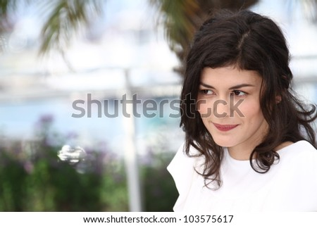 CANNES, FRANCE - MAY 27: Actress Audrey Tautou poses at the 'Therese Desqueyroux' Photocall during the 65th Annual Cannes Film Festival on May 27, 2012 in Cannes, France.