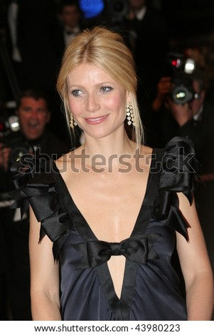 CANNES, FRANCE - MAY 19: Actress Gwyneth Paltrow attends the Two Lovers premiere at the Palais des Festivals during the 61st Cannes International Film Festival on May 19, 2008 in Cannes, France.