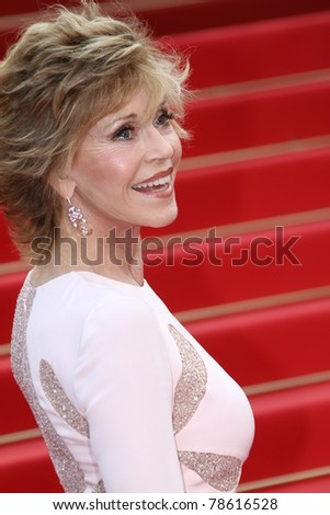 CANNES, FRANCE - MAY 12: Actress Jane Fonda arrives at the 'Sleeping Beauty' premiere during the 64th Annual Cannes Film Festival at the Palais des Festivals on May 12, 2011 in Cannes, France