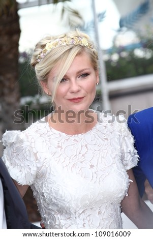 CANNES, FRANCE - MAY 23: Actress Kirsten Dunst attends the 'On The Road' Photocall during the - 65th Annual Cannes Film Festival at Palais des Festivals on May 23, 2012 in Cannes, France.