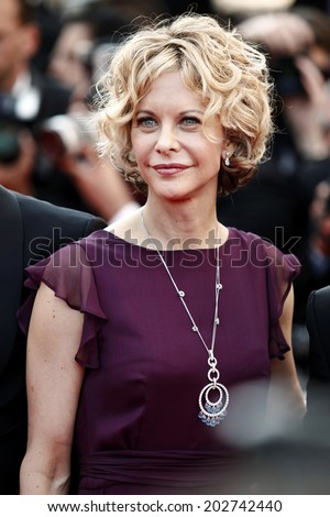 CANNES, FRANCE - MAY 17: Actress Meg Ryan attends \'Countdown To Zero\' Premiere during the 63rd Cannes Film Festival on May 17, 2010 in Cannes, France.