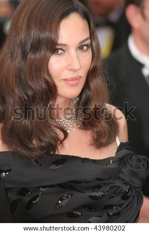 CANNES, FRANCE - MAY 19: Actress Monica Bellucci attends the 'Wild Blood'  premiere at the Palais des Festivals during the 61st Cannes International Film Festival on May 19, 2008 in Cannes, France.
