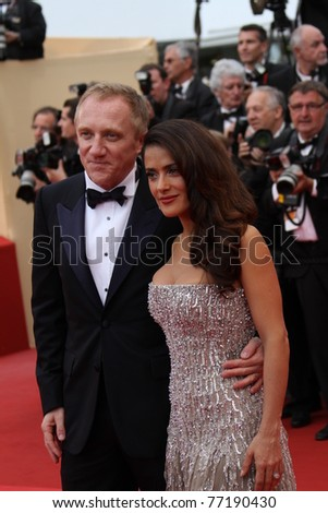 CANNES, FRANCE - MAY 11: Actress Salma Hayek  and Francois-Henri Pinault attend the Opening Ceremony at the Palais des Festivals during the 64th Cannes Film Festival on May 11, 2011 in Cannes, France - stock photo