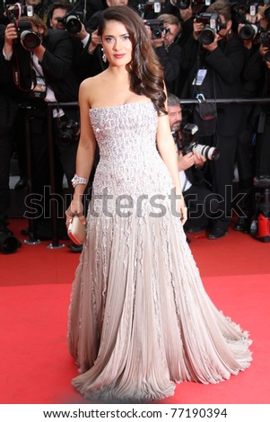CANNES, FRANCE - MAY 11: Actress Salma Hayek attends the Opening Ceremony at the Palais des Festivals during the 64th Cannes Film Festival on May 11, 2011 in Cannes, France