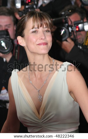 stock photo : CANNES, FRANCE - MAY 13: Actress Sophie Marceau attends the ...