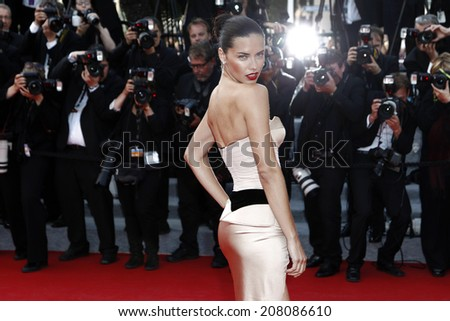 CANNES FRANCE MAY 18 Adriana Lima attends The Homesman premiere during the 67th Cannes Film Festival on May 18 2014 in Cannes France