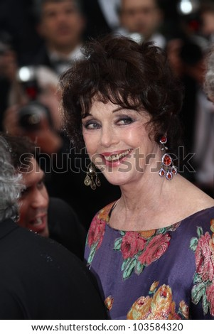 CANNES, FRANCE - MAY 21: Annie Duperey attends the 'Vous N'avez Encore Rien Vu' premiere during the 65th  Cannes  Festival at Palais des Festivals on May 21, 2012 in Cannes, France