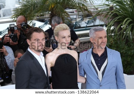 CANNES, FRANCE - MAY 15:  Baz Luhrmann, Carey Mulligan attend 'The Great Gatsby' photocall during the 66th Annual Cannes Film Festival at the Palais des Festivals on May 15, 2013 in Cannes, France.